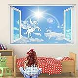 Wandtattoo Poster Tapeten Pegasus Pegasus Fairy Clouds 3D