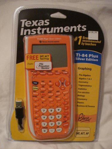 TEXAS INSTRUMENTS TI-84 Plus Silver Edition Graphing Calculator (Orange)