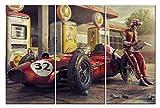Bild auf Leinwand Auto Formel 1 Bolid F1 Ferrari Wandbild