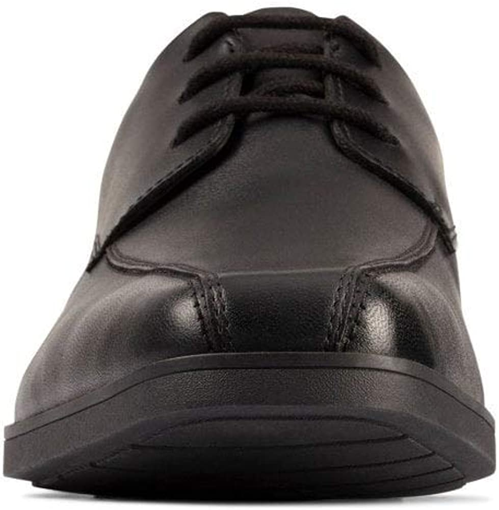 Clarks Scala Step Youth Leather Shoes in Black