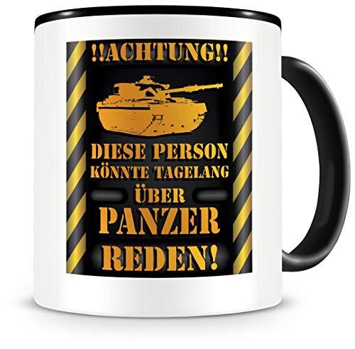 Samunshi® Panzer Tasse mit Spruch Geschenk für Panzer Fans Männer Kaffeetasse groß Lustige Tassen zum Geburtstag schwarz 300ml
