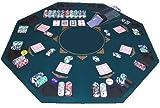 GOODS+GADGETS Faltbare Pokerauflage Poker Auflage Aufsatz Tischauflage 120 x 120 cm für 8 Personen Pokertischauflage aus Holz überzogen mit bedruckten Filz Pokermatte Pokerteppich -