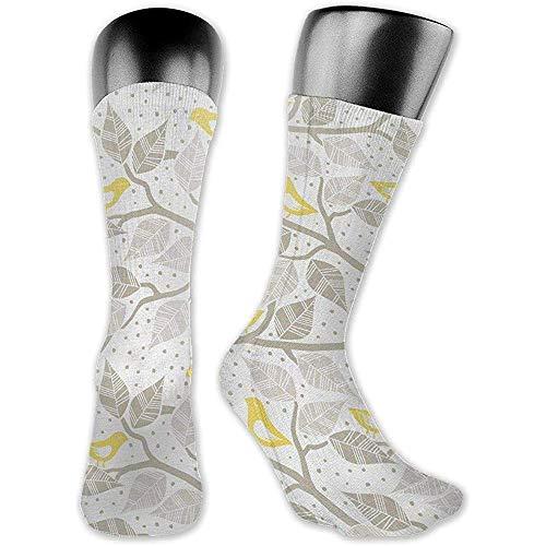 winterwang Birds On The Branch Calcetines de vestir para hombre de alto rendimiento de moda con personalidad