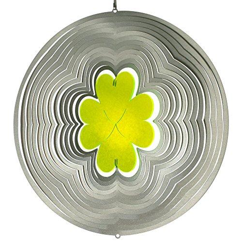 Acier inoxydable Vent Jeu – Sun Dancer Mix Trèfle – Unique Matériau Mix, lichtreflektierend – Dimensions : 29 x 30 cm – avec crochet avec roulement à billes vertébrale