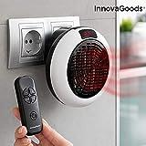 InnovaGoods IG814045 Calefactor Cerámico de Enchufe con Mando a Distancia 600W, 600 W, Plástico, Blanco