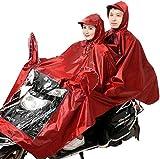 HGFLYL Cubierta Universal para Parasol de Motocicleta eléctrica, Chaqueta de Ciclismo Doble para Bicicleta/Bicicleta eléctrica/Scooter, Capa Impermeable para Poncho, Poncho Que se Puede Usar,B