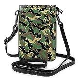 Camo que imprime el pequeño bolso del bolso del crossbody del pequeño bolso del teléfono celular mini bolso del hombro de la bolsa del teléfono