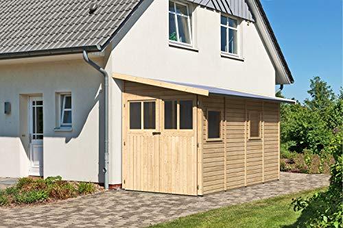 Unbekannt Karibu Gartenhaus Wandlitz 4 Natur 19 mm