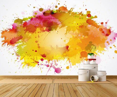Fotobehang, kleur Splash, in verschillende afmetingen, naar keuze als papierbehang of vliesbehang, PVC-vrij, geurloos, milieuvriendelijke latexdruk zonder oplosmiddel, behang met motief, posterbehang, fotobehang, wand, muurafbeelding van trendy muren 420x270cm