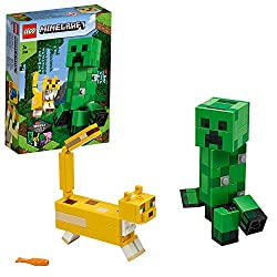 Recreate the familiar Minecraft confrontation between BigFig Creeper and an Ocelot with the extra-large, easy-to-build characters A head that turns gives the Creeper authentic mobility, and the yellow, spotted Ocelot is quick to react with its posabl...