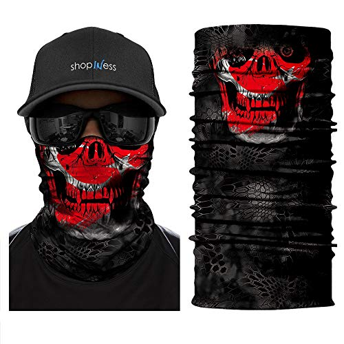 ShopINess Foulard multi-fonction Skull Robot Red