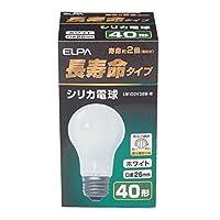朝日電器 (業務用セット) ELPA 長寿命シリカ電球 40W形 E26 ホワイト LW100V38W-W (×35セット)
