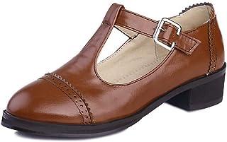 BalaMasa Womens APL11564 Pu Block Heels