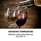 Klarstein Vinamour Uno Weinkühlschrank, externes Touch-Bedienfeld, luxuriös: Sicherheitsglastür mit Edelstahl-Rahmen, Kapazität: 12 Flaschen / 46 Liter, eine Kühlzone: 4-18 °C, 40 dB, schwarz - 4
