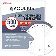 Thermometer Probe Disposable Covers (500 Pack of Protective Sleeves) for Use on All Digital Probe Thermometers by Oral, Rectal, or Armpit Temperature Readings
