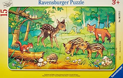 Ravensburger Kinderpuzzle 06376 - Tierkinder des Waldes - Rahmenpuzzle
