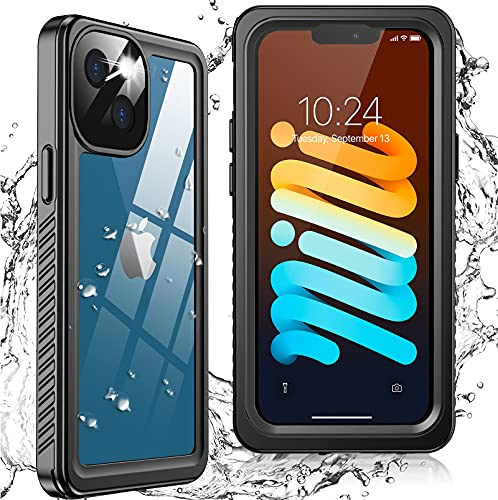 Oterkin for iPhone 13 Mini Case, iPhone 13 Mini Waterproof Case 360 Degree Full Sealed with Built-in Screen Protector Shockproof Dustproof...