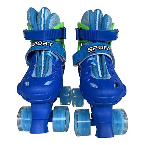 Tante Tina Rullskridskor rullskridskor för barn – lysande framhjul – blå – M (34–37)