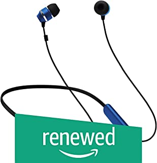 (Renewed) Samsung ITFIT Bluetooth Wireless Earphone with Flexible Neck Band and handsfree Mic (GP-OAU019SABBI, Blue-Black)