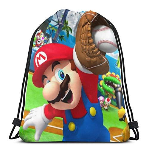Super Mario Rucksack mit Kordelzug, für Fitnessstudio, Reisen