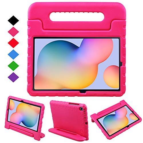 BelleStyle Kids Case for Samsung Galaxy Tab S6 Lite 10.4 Inch 2020 Model SM-P610/P615, Shockproof Lightweight Protective Case Kids Friendly Handle Stand Cover for Galaxy Tab S6 Lite 10.4' (Magenta)