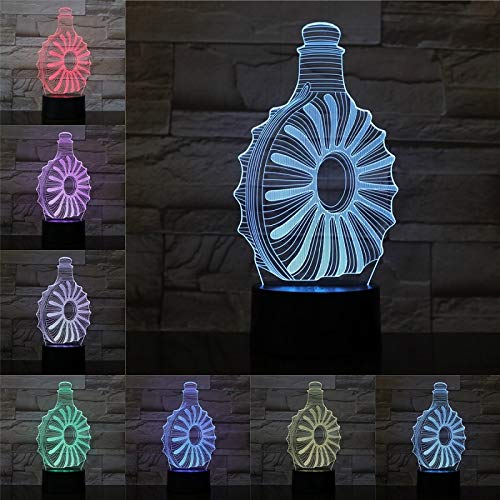 Acrylic Creative cans 3D Lights Beer Bottles Wine Glasses Seven-Color Small Night Lights Family bar Party Children's Gifts Birthday Gifts Decoration