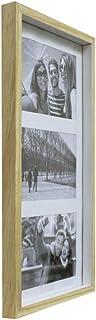 Painel Color Wood Para 3 Fotos 10X15cm Kapos Natural/Branco