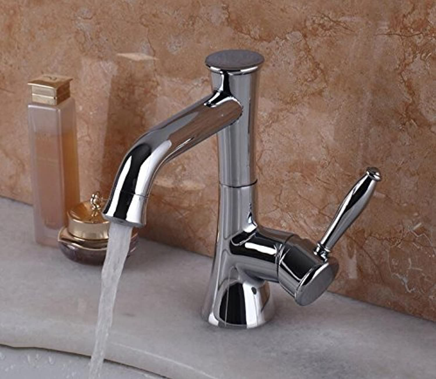 Makej Bathroom Faucets Sink Mixer Water Tap W Single Handle Single Hole Taps
