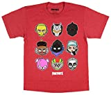 Fortnite Boys Character Tee Officially Licensed (Medium) Red Heather