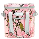 RTIC Soft Cooler 20, Pink Camo, Insulated Bag, Leak Proof Zipper,...