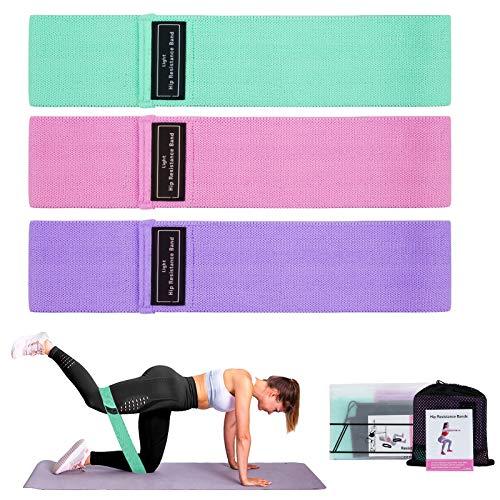 Evolyline Fasce di resistenza [set da 3], 3 livelli di resistenza, fascia per ginnastica per allenamento Hip gambe, allenamento completo e trazioni