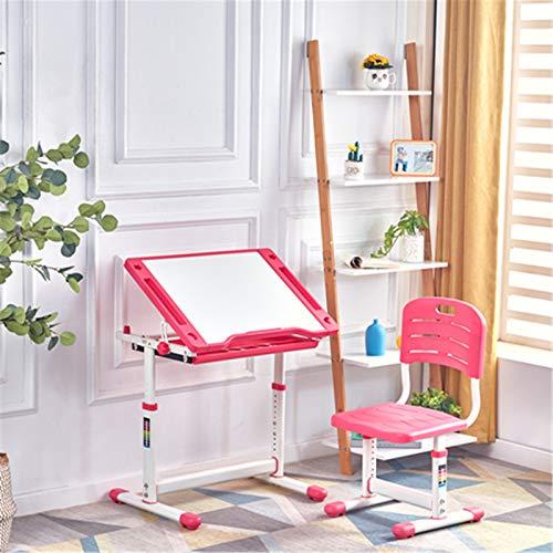 Niños escritorio estudio mesa y silla conjunto de niños ergonómico escritorio altura ajustable niñas niños escritorio escritorio mesa de dibujo