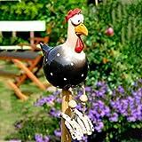 Gartenfigur 5 Stücke Harz Huhn Hilde Gartendeko,Outdoor Garten Tierfigur Gartenstecker Keramik Figur Handarbeit Ornament Gartenstatue | Garten Skulptur Lustig Für Außen (Blau)