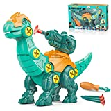THREEMAO DIY Dinosaur Splicing Toys, Disassembling and Launching Dinosaurs, Dinosaur Educational Toys Built with a Screwdriver, Suitable for Children Aged 3-10. (Diplodocus)