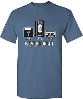 Never Forget Retro Vintage Cassette Tape Graphic Novelty Mens Funny T Shirt