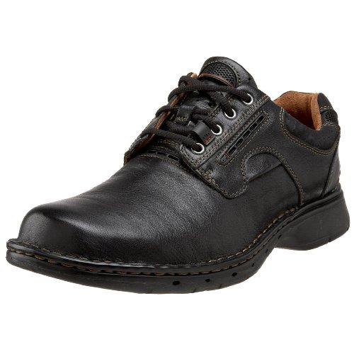 Clarks Men's Un.ravel, Black Leather, 12 EE-Wide