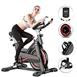 Tribesigns Indoor Cycling Exercise Bike, Super Mute Spinning Bike with Heart Rate Monitor