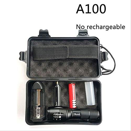 Lampe de poche Led rechargeable USB 10000 Lumens Torch Zoomable Flash Light Lamp Lighting avec câble USB XM-L2 U3 F