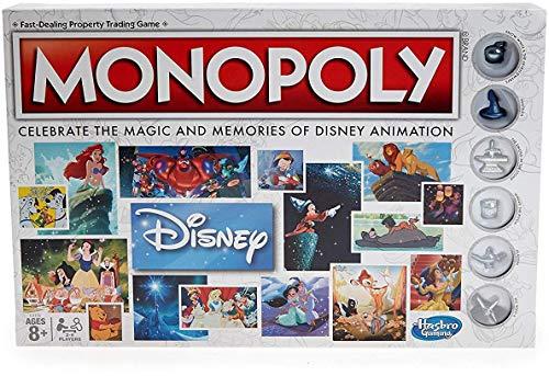 Monopoly Hasbro Gaming Disney Animation Edition Game