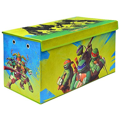 Teenage Mutant Ninja Turtles Folding Soft Storage Bench, Perfect Toy Box or Chest for Playrooms, Officially Licensed Product