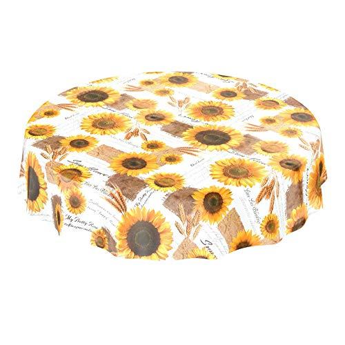 ANRO tafelkleed wastafelkleed wasdoek tafelkleed zonnebloemen zomer tarwe geel