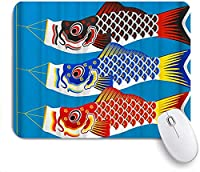 KAPANOU マウスパッド、コイ凧 おしゃれ 耐久性が良い 滑り止めゴム底 ゲーミングなど適用 マウス 用ノートブックコンピュータマウスマット