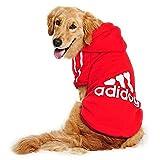 DULEE ADIDOG - Abrigo con capucha para perro