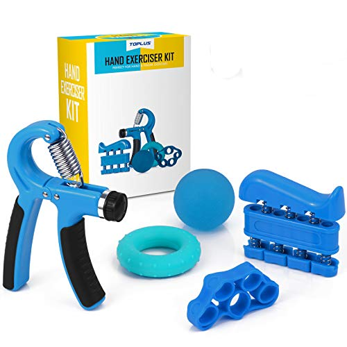 hand exercise equipment Grip Hand Strengthener, Hand Strengthener Grip Exerciser Strength Trainer Finger Strengthener Stress Relief Toys for Adults Hand Gripper Physical Therapy Equipment
