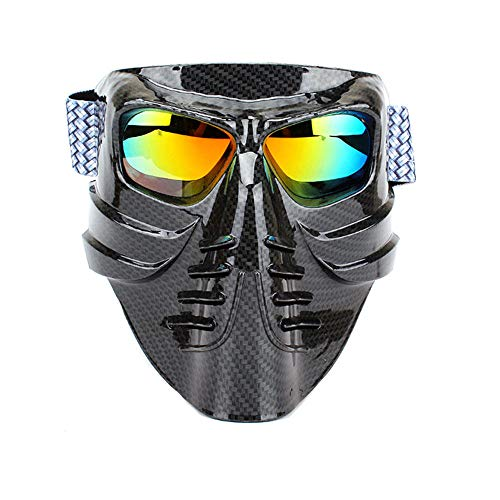 ZZKJTANGYMTT Motorcycle Glasses, Outdoor Riding Goggles, Motorcycle Sports Goggles, Sand-Proof Off-Road Tactical Equipment, Ski Glasses, Cross-Country Eye Protection, Skiing, Protective Glasses,Black