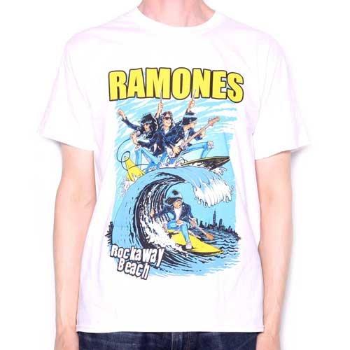 The Ramones Camiseta???Rock Away Beach 100% Official screenpri Ted Licensed personalizada Wei? XXL
