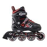Rollers Professionneles pour Enfants/Adolescents/Adultes - à Taille réglable, roulis Avant Luminous - Noir/Rouge M (34-37)