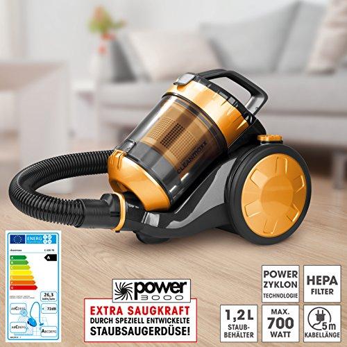 CLEANmaxx 08302 Zyklon-Staubsauger | HEPA-Filter | 700W | Gold