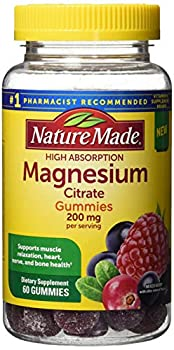 Nature Made High Absorption Magnesium Citrate 200mg Gummies 60 Count Mixed Berry 60 Count  Pack of 12