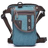 Sunmig Men Multi-Purpose Leg Bag Military Drop Bag Outdoor Waist Bag (Green Black)